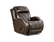 Dugout Custom Reclining Wall Hugger W/ Power Recline (Leather) (SOU-2134P-LEATHER)