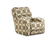 Fandango Custom Wall Hugger Recliner W/ Adjustable Headrest (Accent Fabric) (SOU-6184P-ACCENT)
