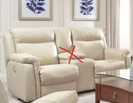 Uptown Custom Reclining Loveseat W/ Adjustable Lumbar (Leather) (SOU-887-51P-LUMB-LEATHER)