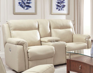 Uptown Custom Reclining Loveseat W/ Console (Leather) (SOU-887-28-LEATHER)