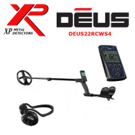 "XP DEUS With WS4 Backphone Headphones + Remote + 9"" Coil"