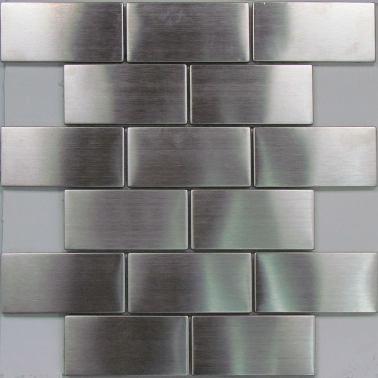Sample Stainless Steel Metal Pattern Mosaic Tile Kitchen: 0801 Stainless Steel Subway Mosaic Tiles