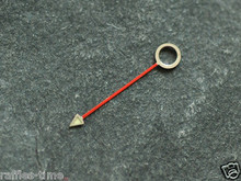 Small Vintage 1675 6542 GMT Watch Hand for DG 2813 3804B movement - Red - 2.0mm hole