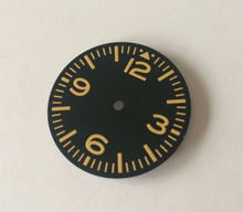 Plain Pilot Aviation Aviator Dial for 7S26 NH35 movement 28.5mm Yellow Super luminova