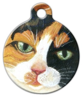 Calico Cat Dog ID Tag-Cat ID Tag