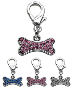 Rhinestone Bone Charms