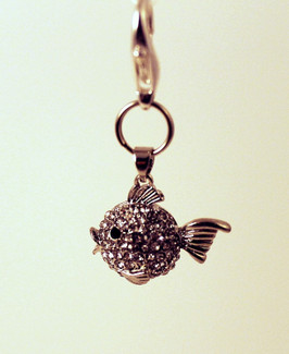 Crystal Puffy Fish Charm for Pet Collars