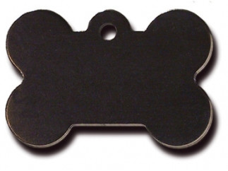 Large Black Bone Dog ID Tag
