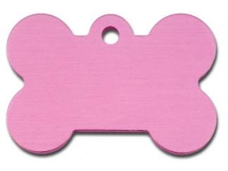 Large Pink Bone Dog ID Tag