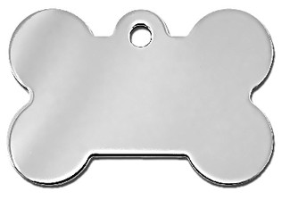 Large Silver/Gold Bone Dog Id Tag