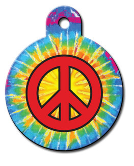 Peace Sign Dog ID Tag-Cat ID Tag