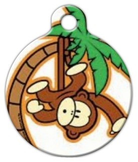 Monkey In a Tree Dog ID Tag-Cat ID Tag