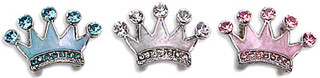 Enamel Crown Slide Charms