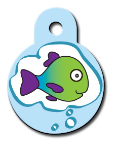 Fish Thoughts Cat ID Tag