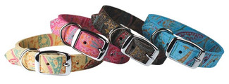 Paisley Suede Dog Collars