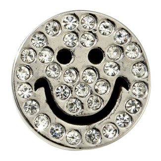 Smiley Face Crystal Slide Charm for Pet Collars