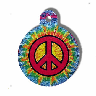 Large Peace Sign ID Tag