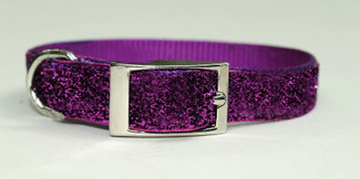 Purple Passion Glitter Glamour Dog Collar