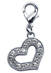 Rhinestone Heart Charm