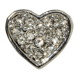 Rhinestone Slide Heart Charm