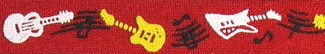 Rock and Roll Guitars Beastie Band Cat Collar