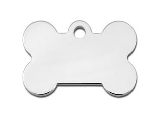 Small Silver/Gold Bone Dog ID Tag-Cat ID Tag