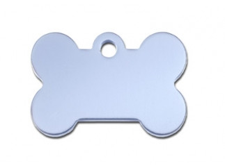Small Light Blue Bone Dog ID Tag-Cat ID Tag