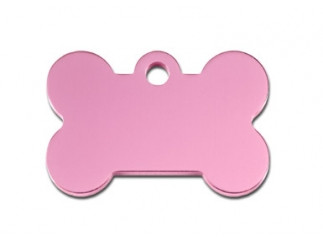 Small Pink Bone Cat ID Tag-Dog ID Tag