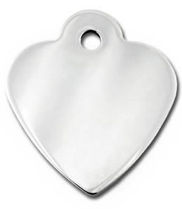 Small Silver/Gold Heart Cat ID Tag-Dog ID Tag
