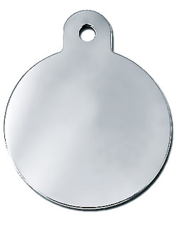 Small Silver Round Dog ID Tag-Cat ID Tag