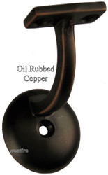3003-RC Rubbed Copper Wall Handrail Bracket