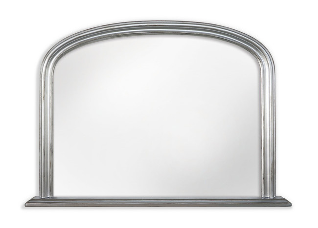 Silver Mantle Mirror