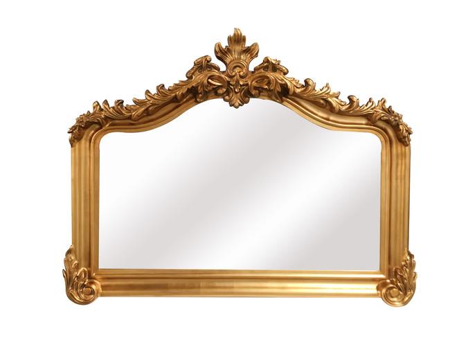 Blenheim Antique Gold Mantle Mirror
