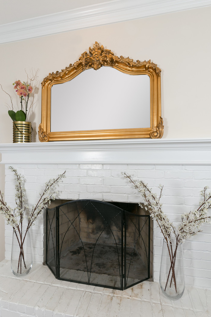 Blenheim Mantle Mirror , Antique Gold