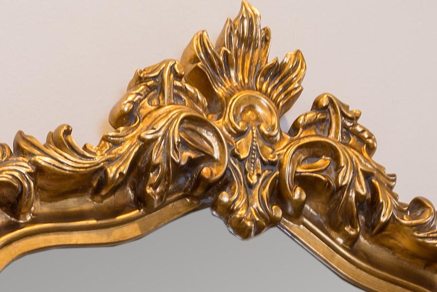 Blenheim Mantle Mirror , Antique Gold