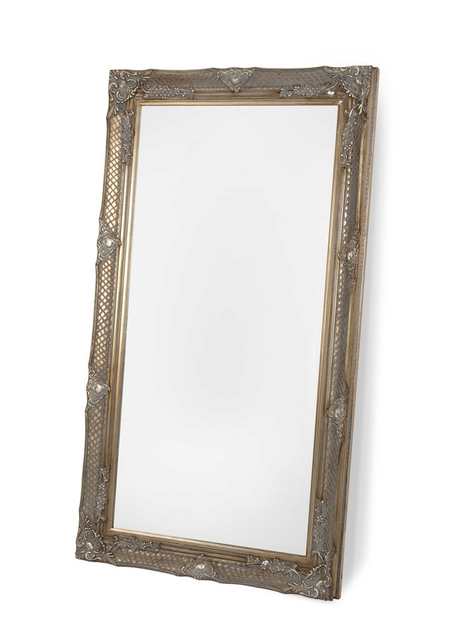 "Selections by Chaumont Belgrave Antique Gold Large Mirror for Leaning or Wall Hanging 69"" L x 39"" W x 3.15"" D"