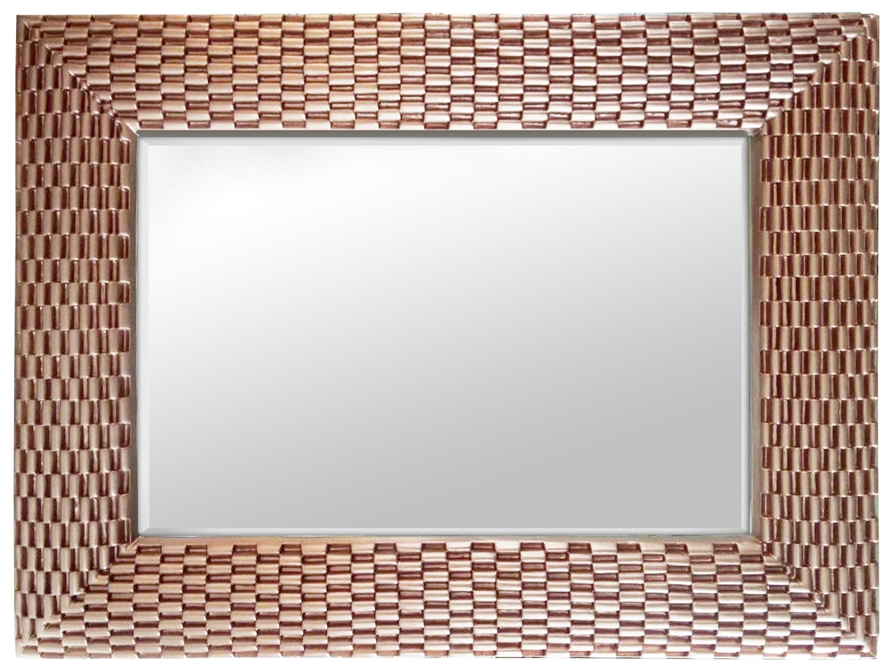 Large Gold Wall Mirror rose gold weave large rectangle wall mirror | selectionschaumont