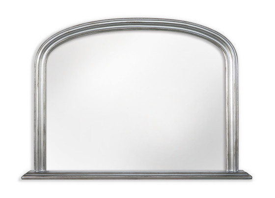 Silver Mantle Mirror