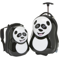HAPPY TRAVEL PALS KIDS ANIMAL LUGGAGE AND BACKPACK PANDA