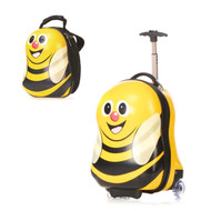 HAPPY TRAVEL PALS KIDS ANIMAL LUGGAGE AND BACKPACK BUMBLE BEE