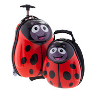 HAPPY TRAVEL PALS KIDS ANIMAL LUGGAGE AND BACKPACK LADY BUG