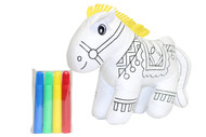 COLOR ME PAL'S DIY WASHABLE AND REUSABLE COLORING HORSE CHILD DEVELOPMENTAL PLUSH TOY