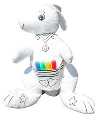 Color Me Pals DIY Washable and Reusable Coloring Kangaroo - Child Developmental Plush Toy