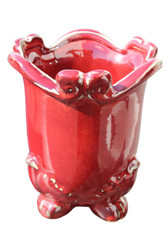 DECORATIVE WINE CERAMIC VASE 6""