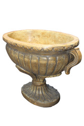 "GOLDEN OVAL CHARIOT URN CONTAINER 6.5""H"