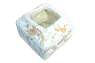 "Paper Mache Square Pot 5"" Height"