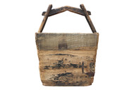ANTIQUE CHINA RICE WOOD CONTAINER BOX BOWL ASIAN ORIENTAL WOOD CONTAINER LIGHT WOOD