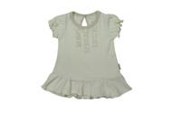 Eotton Certified Organic Cotton Girls Shirt Dress w/ Ruffles and Bottoms