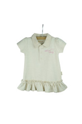 Eotton Certified Organic Cotton Shirt Dress w/ Ruffles and Bottoms