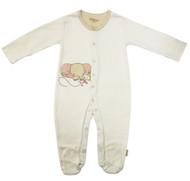 Eotton Certified Organic Cotton Beige Baby Romper